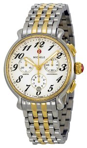 Michele Nwt michele women's fluette diamond two tone watch $2045