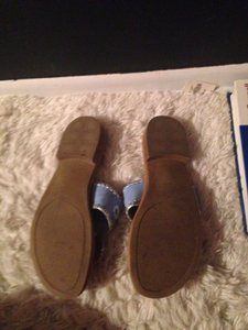 Jack Rogers Blue With Silver Stitching Sandals