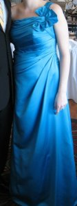 David's Bridal Other Satin F14430 Traditional Bridesmaid/Mob Dress Size 10 (M)