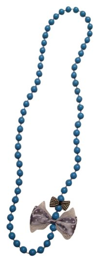 Preload https://item2.tradesy.com/images/tuquoisegreywhiteblack-unique-beaded-with-bows-necklace-544266-0-0.jpg?width=440&height=440