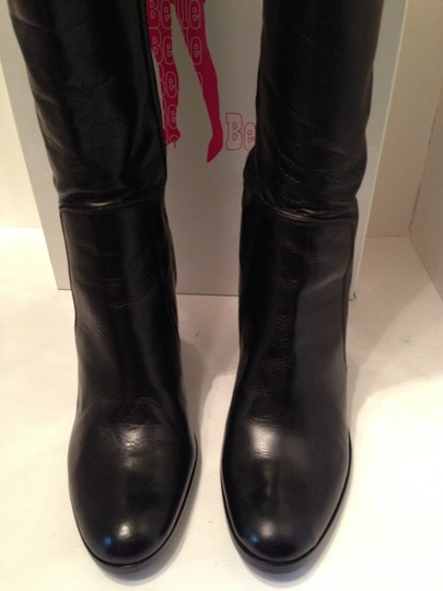 Belle by Sigerson Morrison Leather Knee High Black Boots