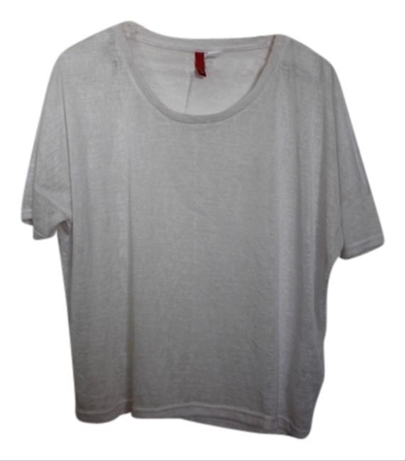 Divided by H&M Casual Loose Lounge Lounge Shirt Fall T Shirt White