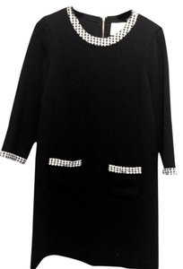 black with black and white houndstooth trim Maxi Dress by Kate Spade Size M 8