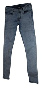 Divided by H&M Light Acid Wash Skinny Casual Going Out Fall Skinny Jeans-Acid