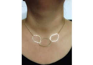 Other Goldtone Scratch Earring/Necklace Set