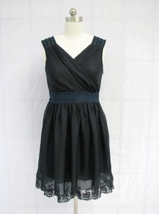 Blue Chiffon Navy Goddess Retro Bridesmaid/Mob Dress Size 6 (S)