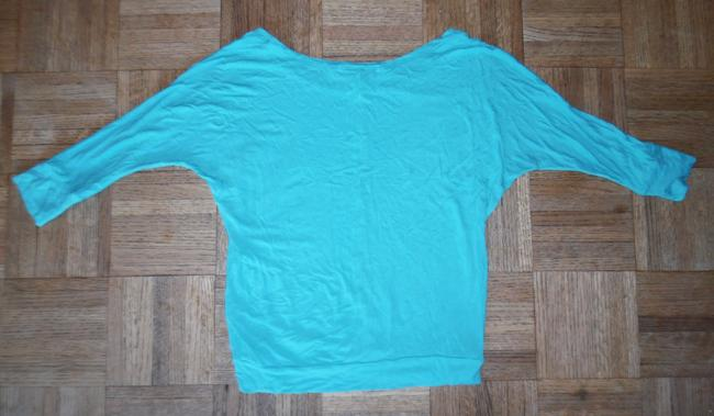 Forever 21 Rayon Dolman Loose Top Teal Green