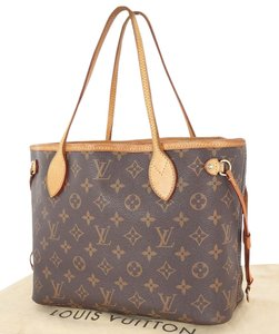 Louis Vuitton Neverfull Pm Tote in Browns