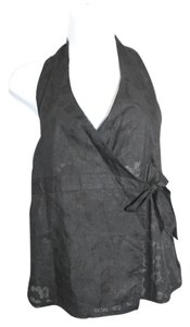 GEFEN Israel Black Cotton Halter Top