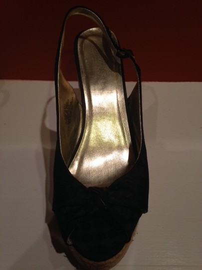 Candie's Open Toe black Wedges