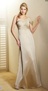 Jasmine Couture Bridal Champagne Chiffon Belsoie 4004 Formal Bridesmaid/Mob Dress Size 4 (S)