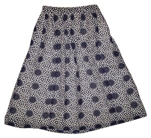 J.Crew Patterned Midi Xs Work Wear Skirt Blue Patterned