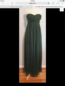 J.Crew Black Taryn Black Silk Chiffon Item # 41410 Dress