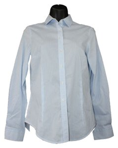Zara Striped Blue Shirt Button Down Shirt