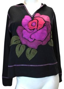 Other Latina Life Floral Appliqued Hooded Cotton Jacket M
