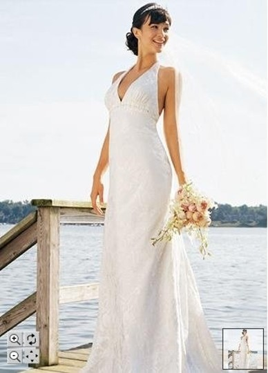 Preload https://item2.tradesy.com/images/david-s-bridal-ivory-chiffon-style-ek9343-floral-print-satin-burnout-h-wedding-dress-size-10-m-54451-0-0.jpg?width=440&height=440