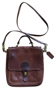Coach Vintage Leather Chocolate Messenger Bag