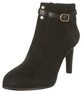 Tory Burch Suede Pointed Toe Ankle Black Boots