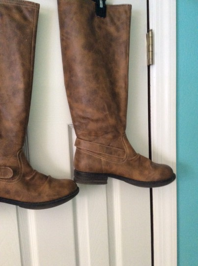 Madden Girl Tan/brown with red stripe Boots