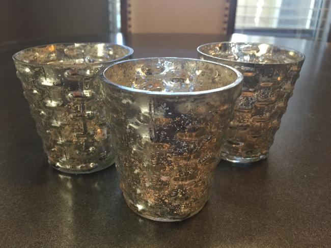Item - Silver Mercury Glass 18 Votive/Candle