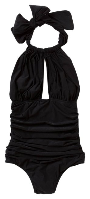 Item - Black New Niemeyer Ruched Halther Maillot One-piece Bathing Suit Size 4 (S)