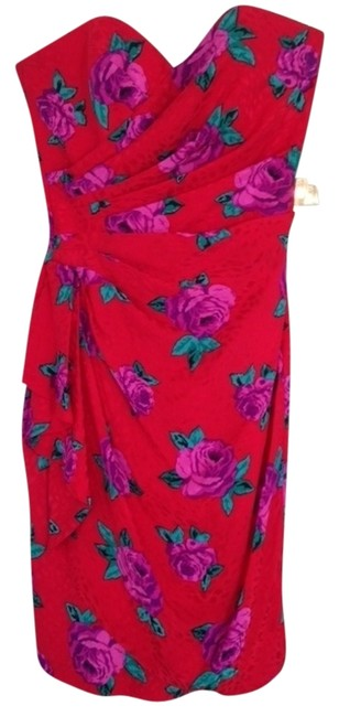 Preload https://img-static.tradesy.com/item/544612/red-with-purple-roses-mid-length-cocktail-dress-size-6-s-0-0-650-650.jpg