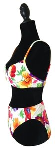 Illusions by Cole White Floral High Rise Bikini
