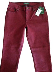 Ralph Lauren Striped Red And Black New Straight Leg Jeans