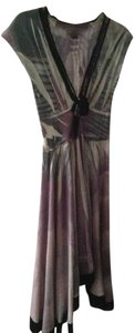 Antony Giuston S.A. Boutique Handmade Assymetric Low Cut Wool Dress