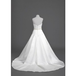 Oleg Cassini Ivory Satin Ces329 Traditional Wedding Dress Size 4 (S)