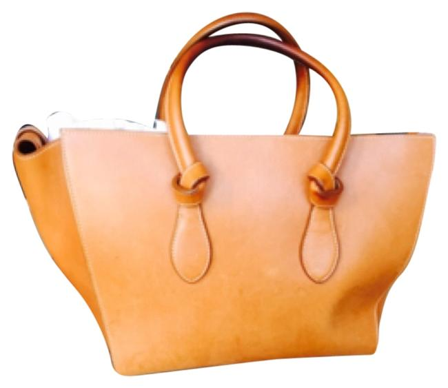Item - Tie Knot 'large' Tan Calf Leather Tote