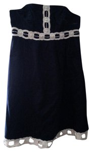 Lilly Pulitzer short dress Navy, White Beaded Navy on Tradesy