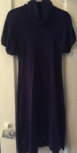 BCBGMAXAZRIA Wool Short Sleeve Turtleneck Knee Length Dress