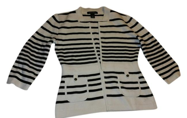 White House | Black Market Sweater Black and White Jacket