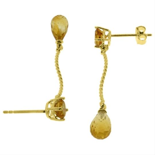 Other 4.3 CT 14k Yellow Gold Yellow Citrine Gemstone Dangling Earrings
