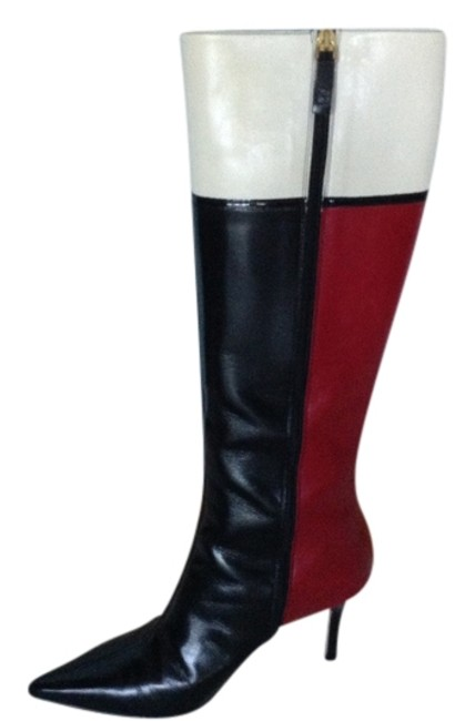 Item - Red/Black/White Boots/Booties Size US 8 Regular (M, B)