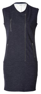 J Brand short dress Charcoal #wool #moto #jbrand #asymmetrical on Tradesy
