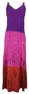 India Boutique short dress Multi-color Tye/Dip Dye #dipdye #tyedye #maxi #embroidered #beaded on Tradesy