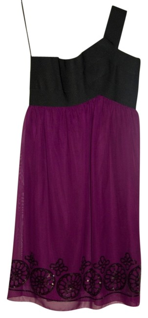Preload https://item1.tradesy.com/images/max-studio-blackpurple-above-knee-night-out-dress-size-6-s-544795-0-0.jpg?width=400&height=650