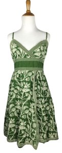 Studio M short dress Green, Ivory on Tradesy