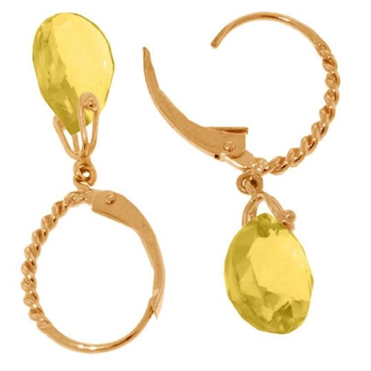 Other 6 CT 14k Rose Gold Yellow Citrine Gemstone Drop Earrings