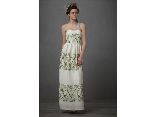 Beth Bowley Light Ivory Silk Linen Frondecence Gown Formal Dress Size 8 (M)