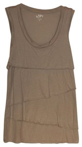 Ann Taylor LOFT Top Light Grayish/Tan