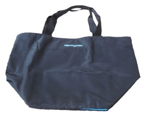 Bloomingdale's Logo Blue Trim Shopping Tote in Black
