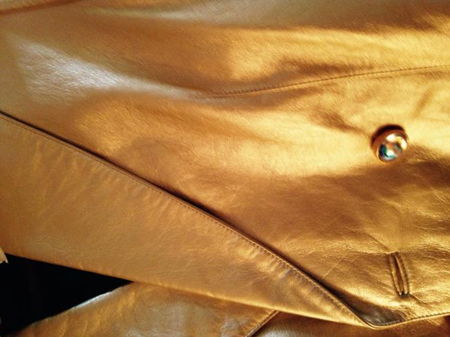 Escada Gold Leather Leather Jacket