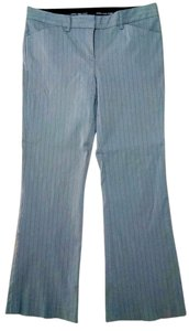 Express Dress Size 6 Straight Leg Low Rise P1653 Trouser Pants gray pin striped