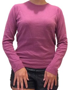 Façonnable Cashmere Pink Soft Fall Spring Holiday Exclusive Bright Detail Darting Sweater