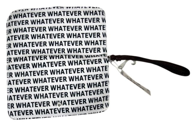 Item - Black and White Whatever Canvas Wristlet