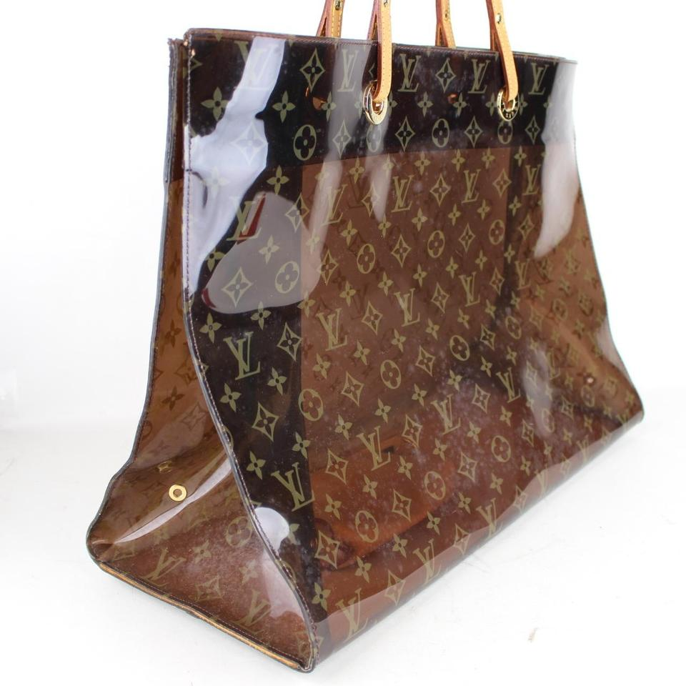 Louis vuitton cabas sac ambre cruise limited edition vinyl for Louis vuitton miroir bags
