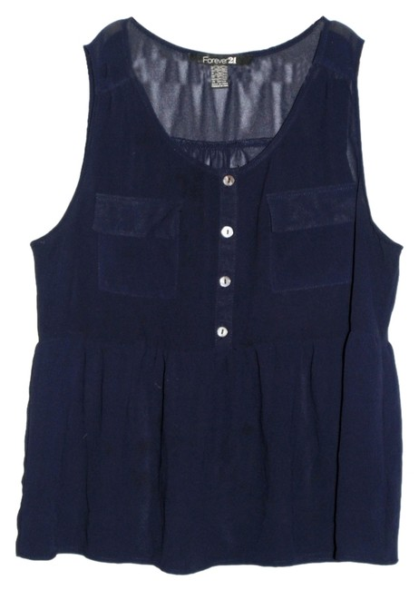 Preload https://item2.tradesy.com/images/forever-21-navy-blue-tunic-size-8-m-5449111-0-0.jpg?width=400&height=650